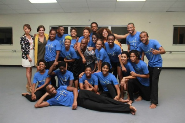Just a few of the 60 participants of the 1st Barbados Dance Project. Here is the group that performed in the in-studio showing.